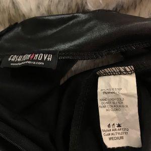 Fashion Nova Dresses - <Fashion Nova> latex mock neck dress